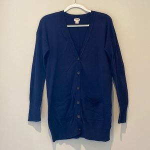 Oversized Navy Button Up Cardigan